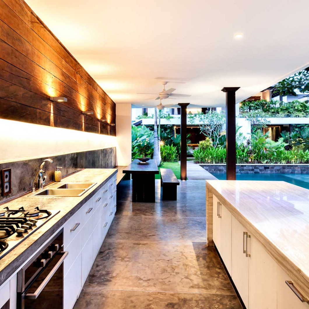 Enjoy the benefits of outdoor kitchens and pool houses